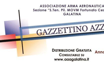 On-line il numero di Dicembre 2020 del Gazzettino Azzurro